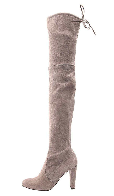 a62b3e4142fa3 Cicime Women's Melanio Chunky High Heel Pointed Toe Thigh-High Boots ...