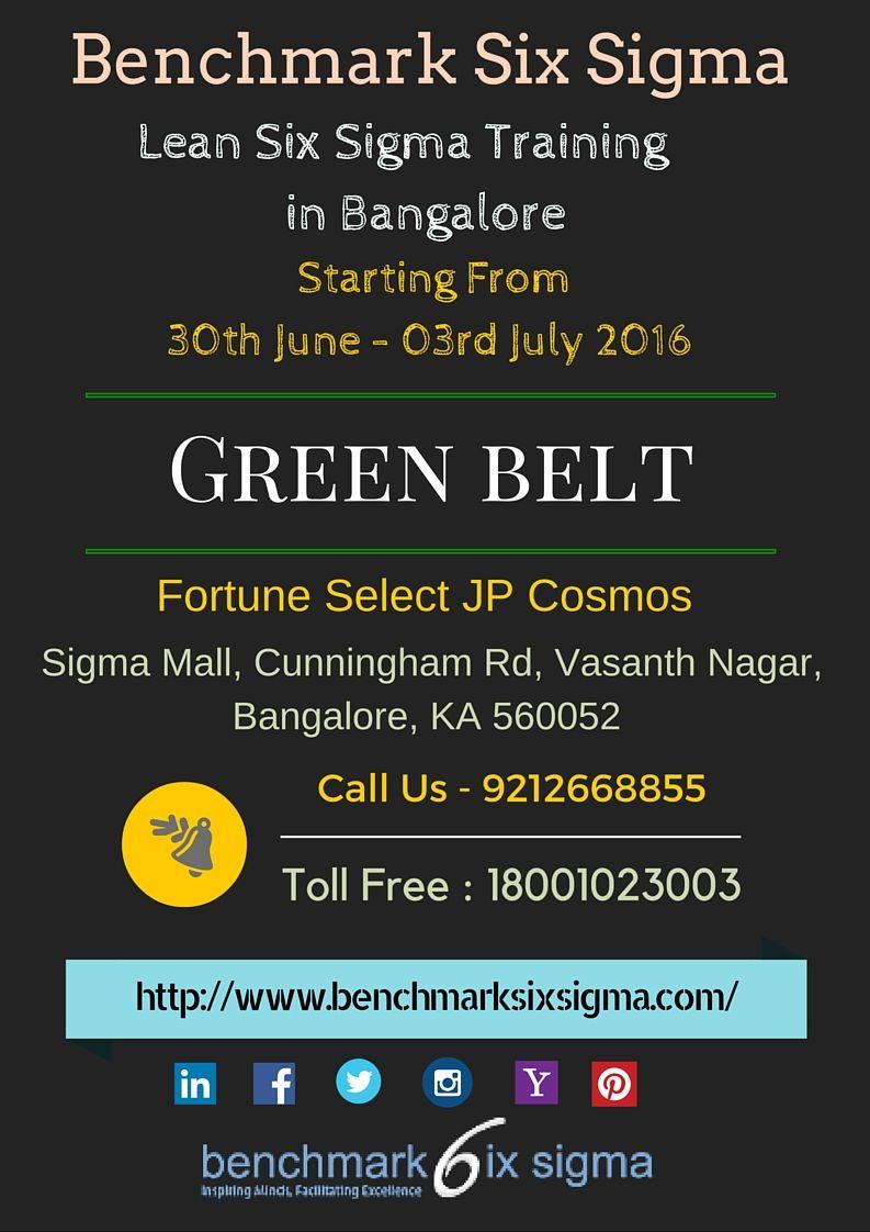 Announcing Next Lean Six Sigma Green Belt Program At Bangalore