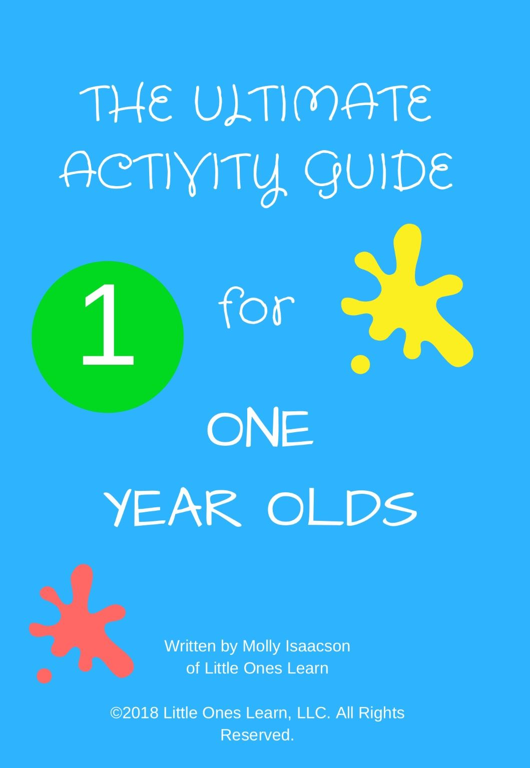 Ultimate Activity Guide 1 Year Olds