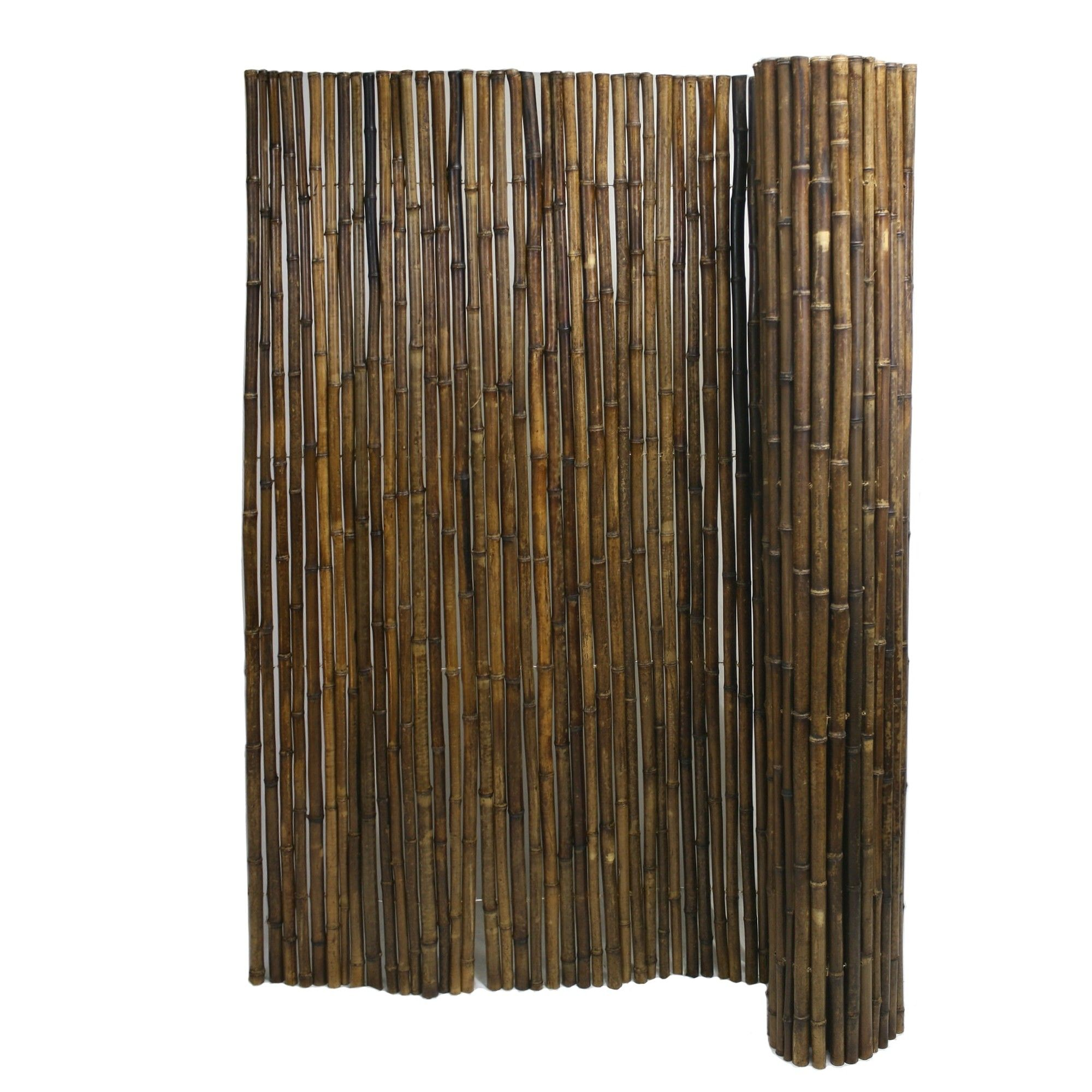 Bamboo Fencing Caramel Brown Finish 1 X 8 X 8 Bamboo Fence Fence Panels Bamboo Garden Fences