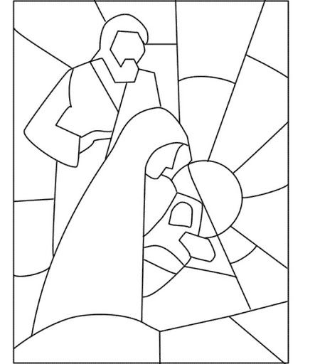Colorear Vidrieras De Navidad Dibujos Para Colorear Stained Glass Christmas Stained Glass Quilt Christmas Coloring Pages