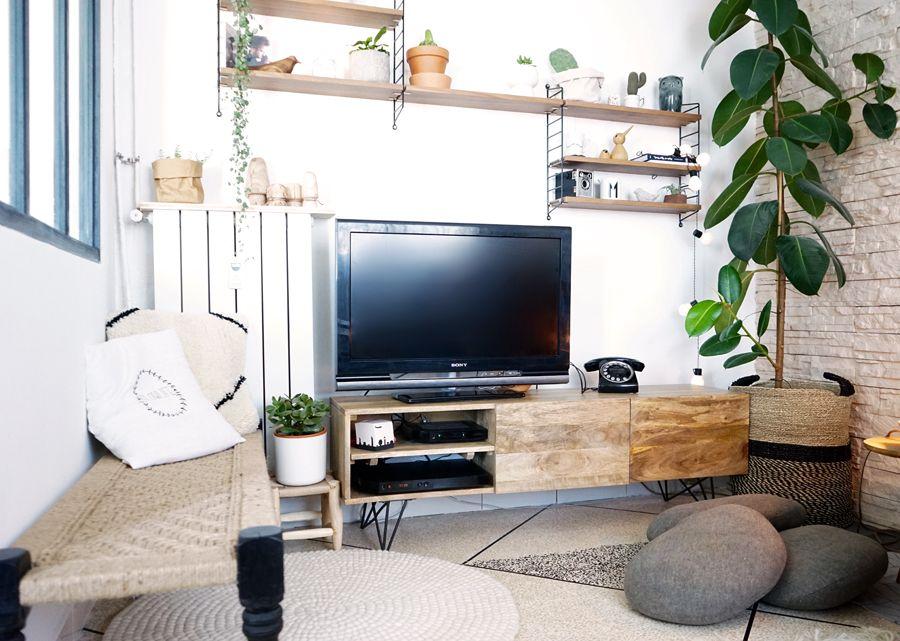 Mon coin télé : nouvelle déco, plantes et mix de styles | Salons ...