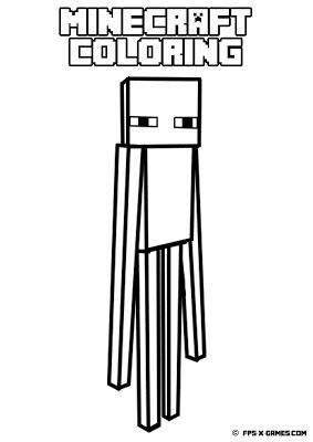 Kleurplaten Minecraft Enderman.Printable Minecraft Coloring Enderman Create Your Own Minecraft
