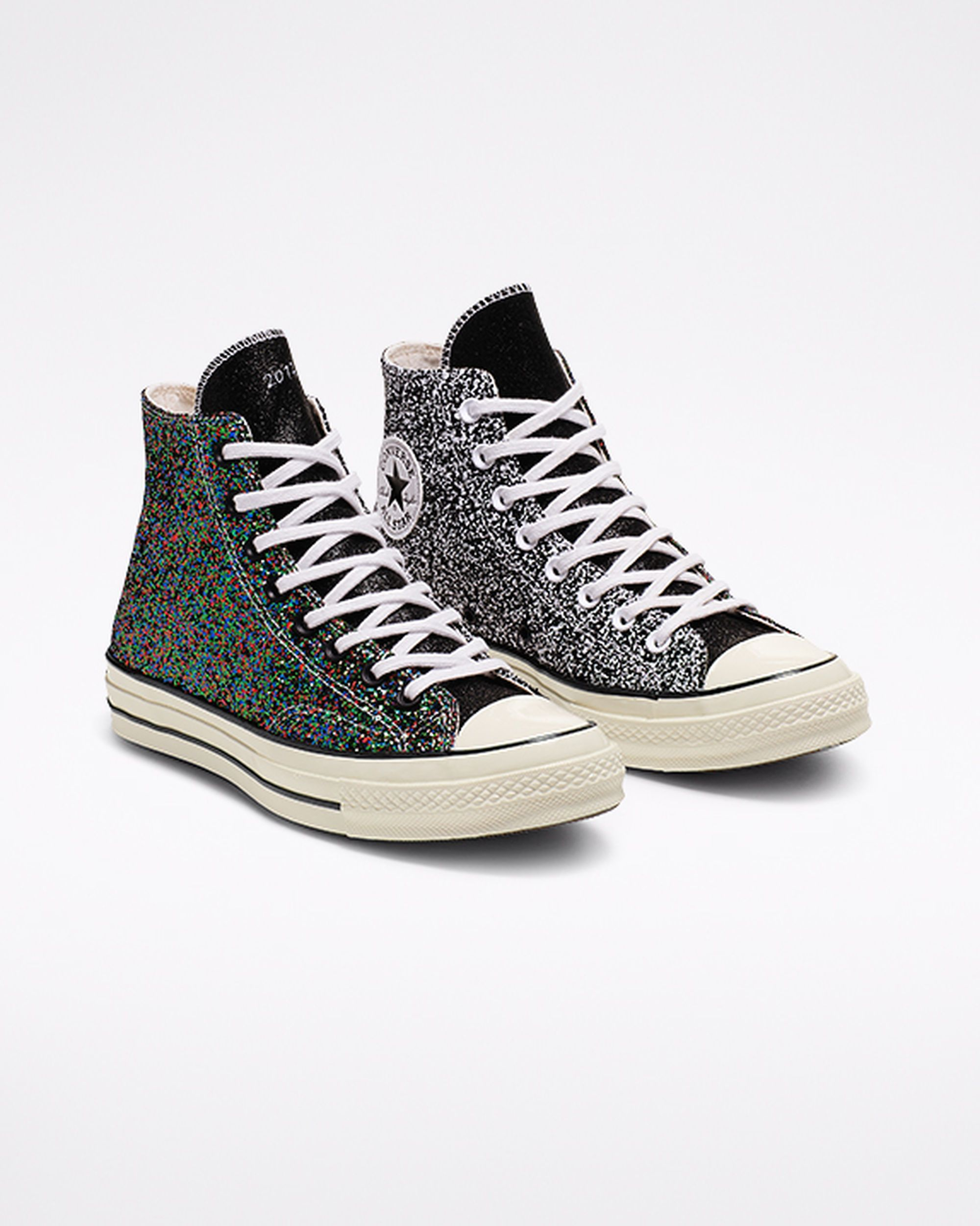 Converse x JW Anderson Glitter Chuck 70 High Top Black/White ...