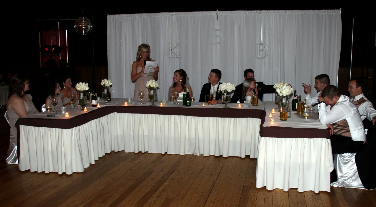 Head Table I Like The Cake Behind The Head Table So You: Wedding Reception Rectangle Tables