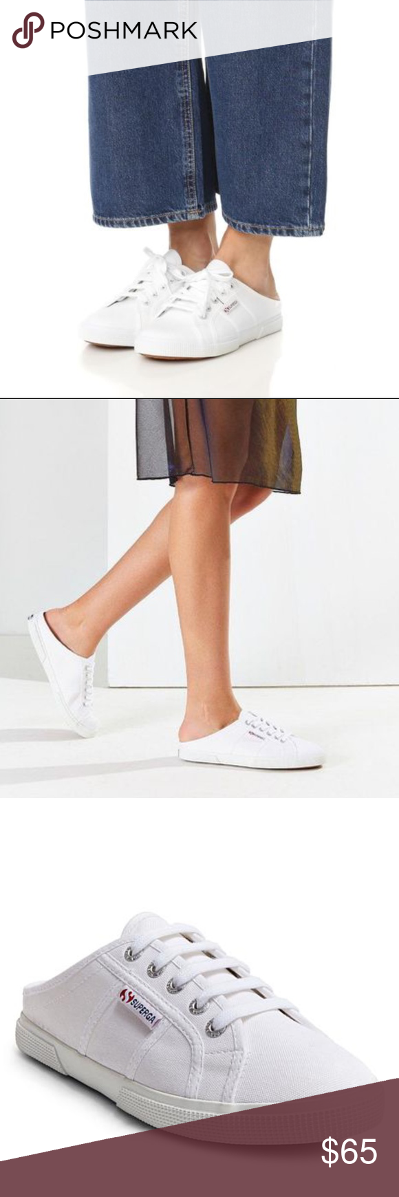 SUPERGA Mule Sneakers NWT! In White