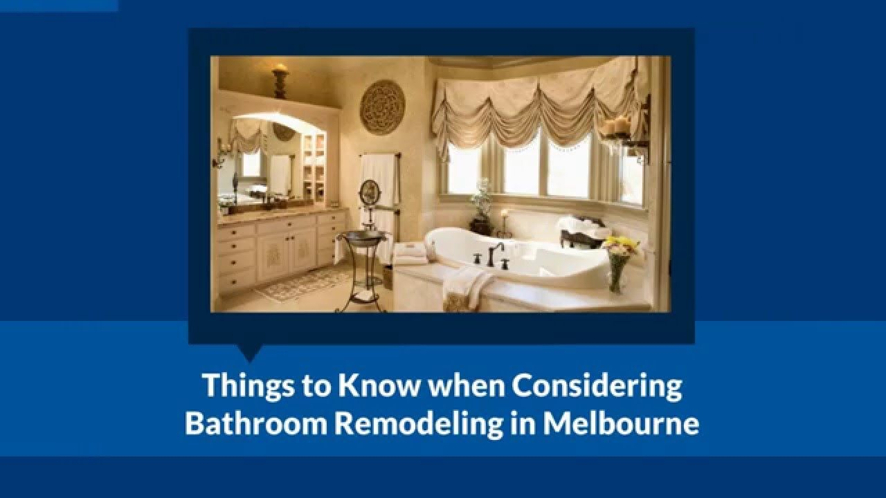 bathroom renovations melbourne: Things to Know when Considering Bathroom...