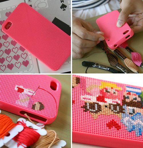 Neostitch DIY Cross-stitch iPhone cover