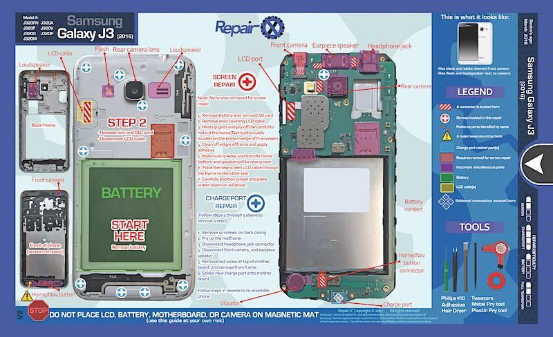 Samsung Galaxy J3 Repair Schematic | Samsung repair | Samsung ...