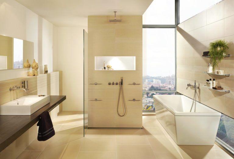 Badezimmer In Beige Modern Atemberaubend Fliesen Bad Beige