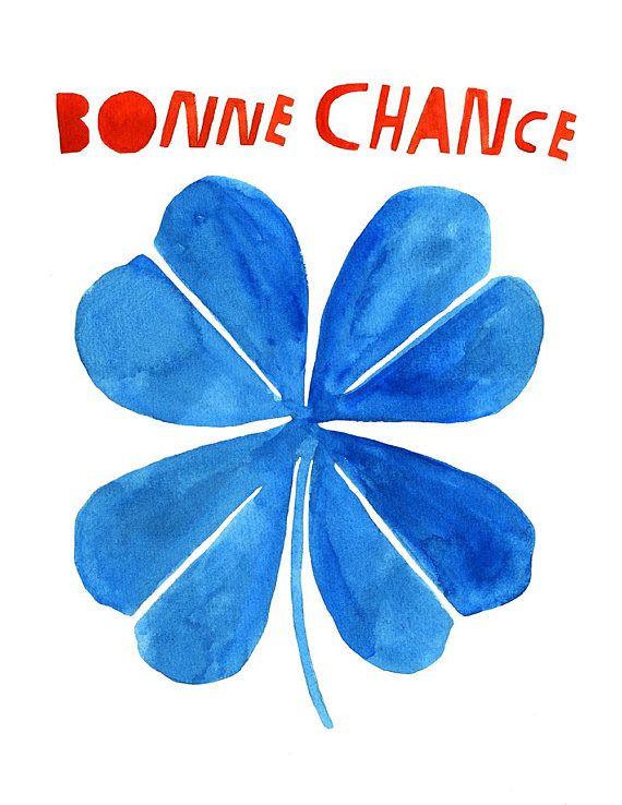 Bonne Chance Good Luck Art Print Lisa Congdon Art Prints
