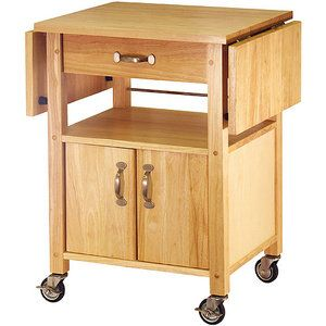 Winsome Wood Rachael Drop Leaf Utility Kitchen Cart Natural Finish Walmart Com In 2021 Rolling Kitchen Cart Kitchen Cart Kitchen Island Cart