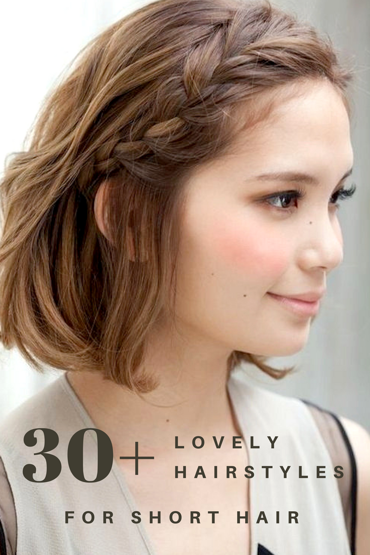 A collection of hairstyle ideas for short hair curls blobs