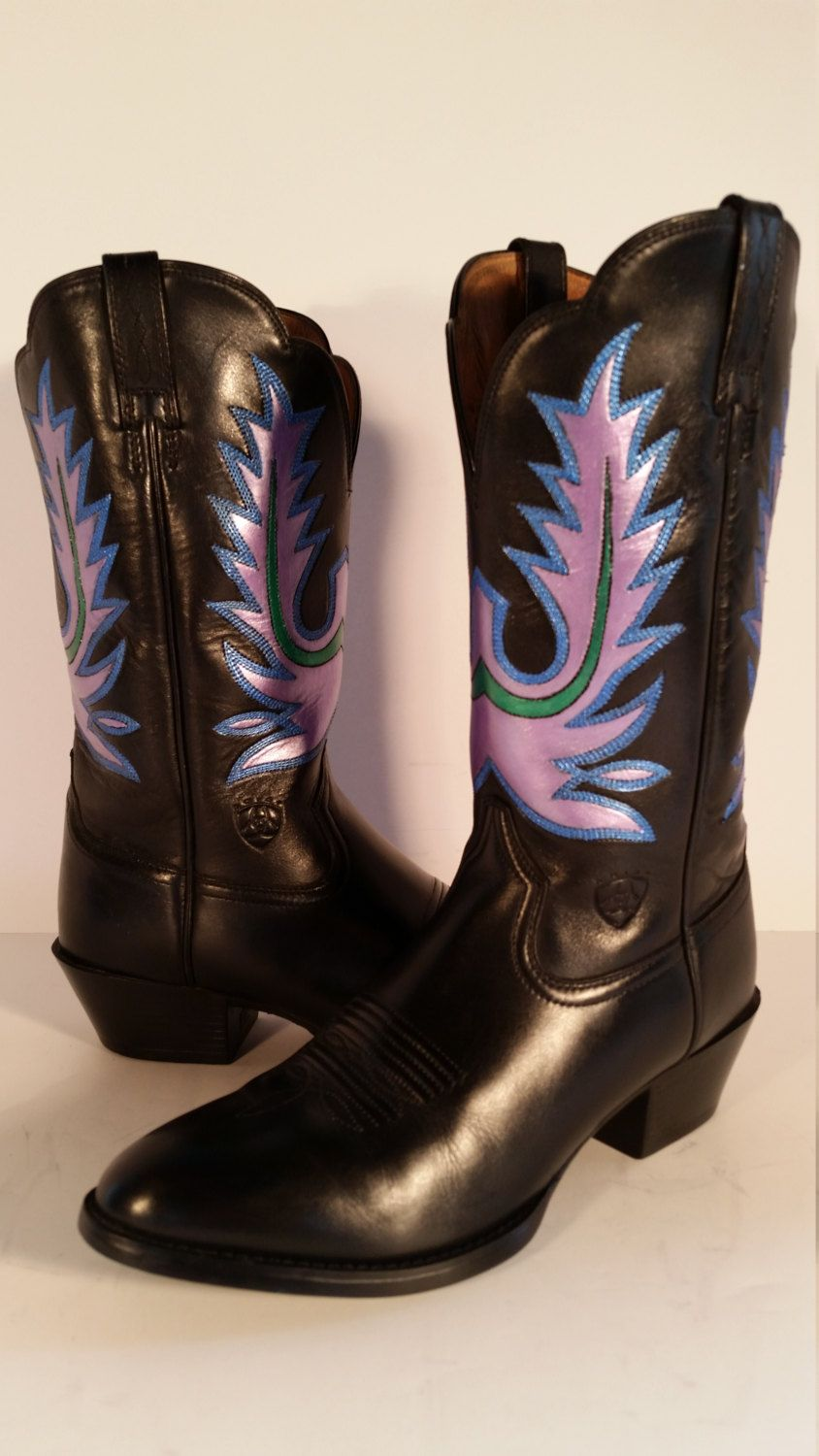 a4df3918af3 Ariat Heritage Women's Black and Metallic Hand Painted Western ...