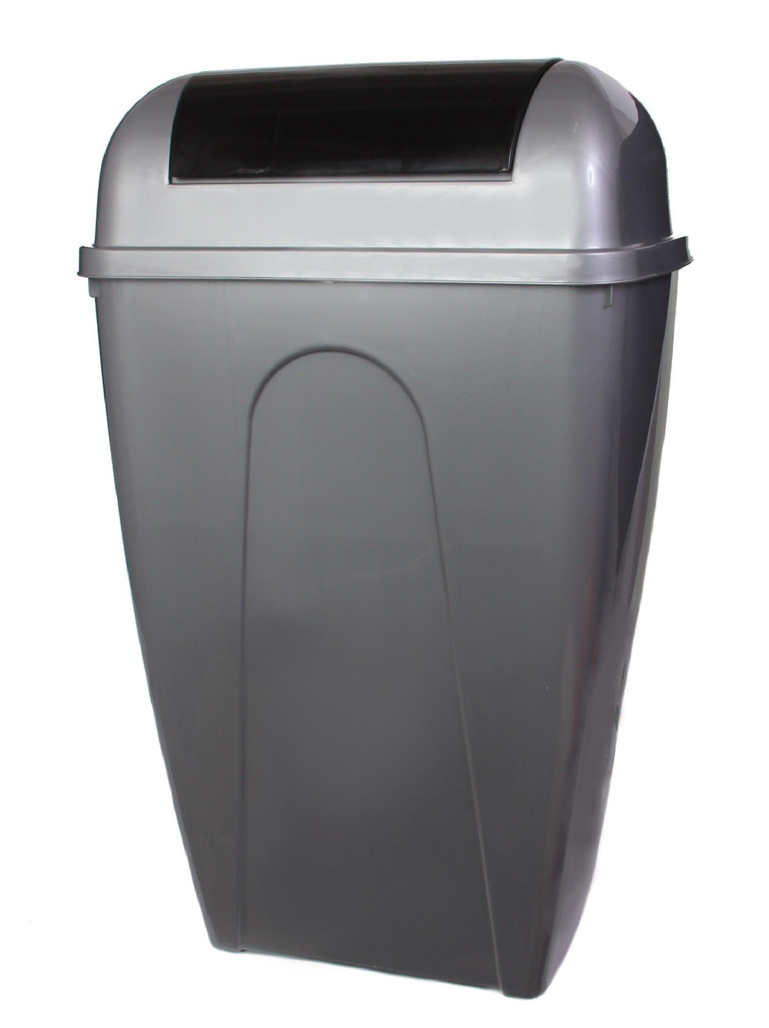 Plastic 13 Gallon Swing Top Trash Can Waste Disposal Office