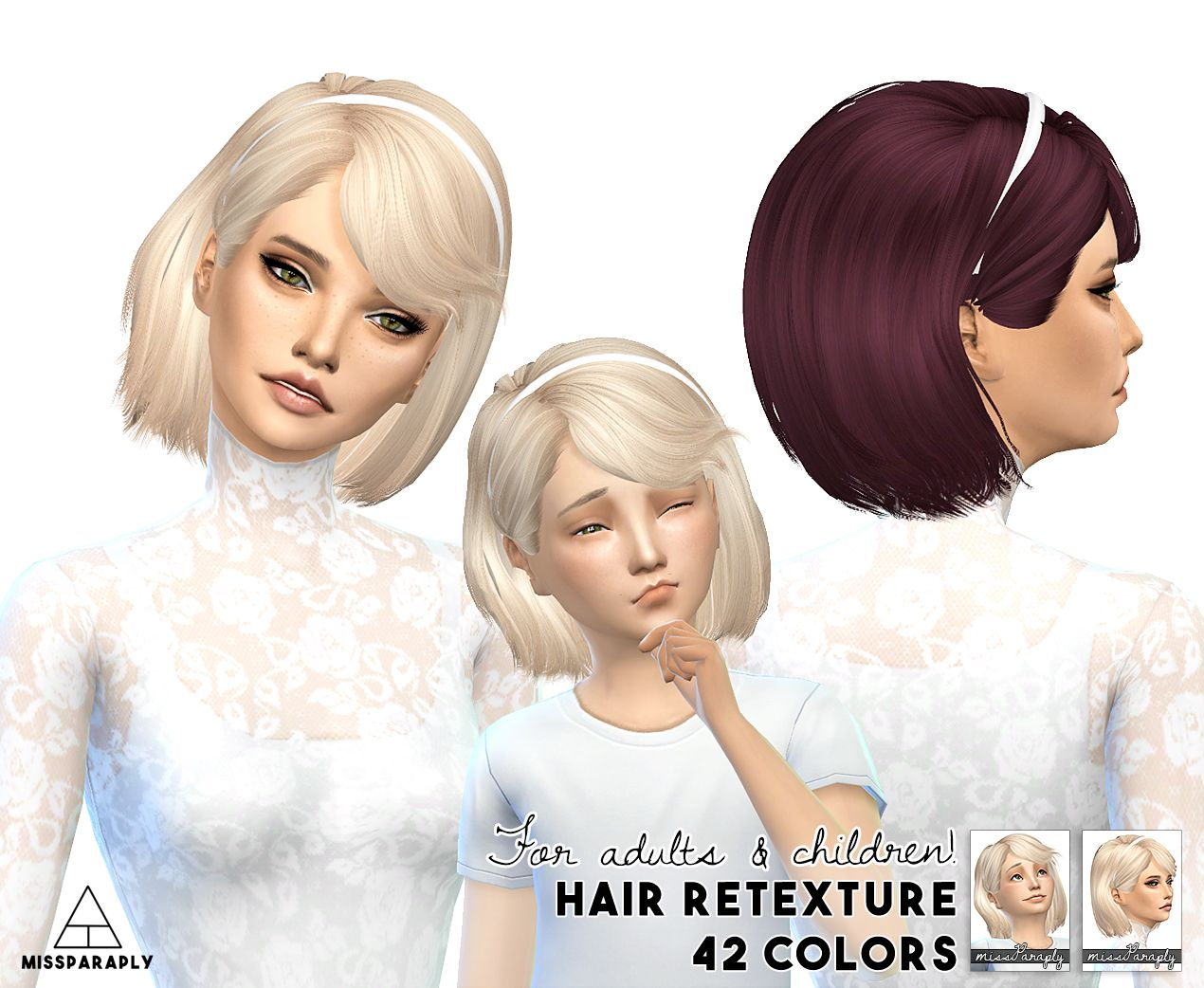 The sims 4 hairstyles cc - Miss Paraply Maysims 46 Hairstyle Retextured Sims 4 Hairs Http