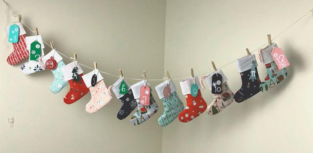 Christmas Stocking Diy Advent Calendar Christmas Advent