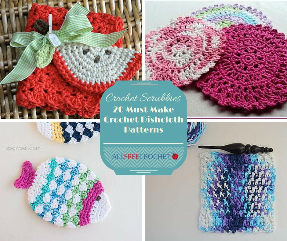 Excepcional Los Patrones De Crochet Libre Para Scrubbies Cocina ...