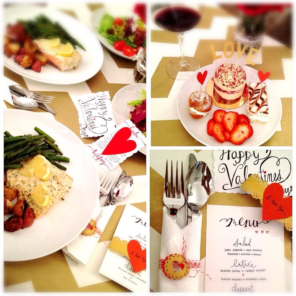 Diy Valentine 39 S Day Dinner Table Setting Caligraphy