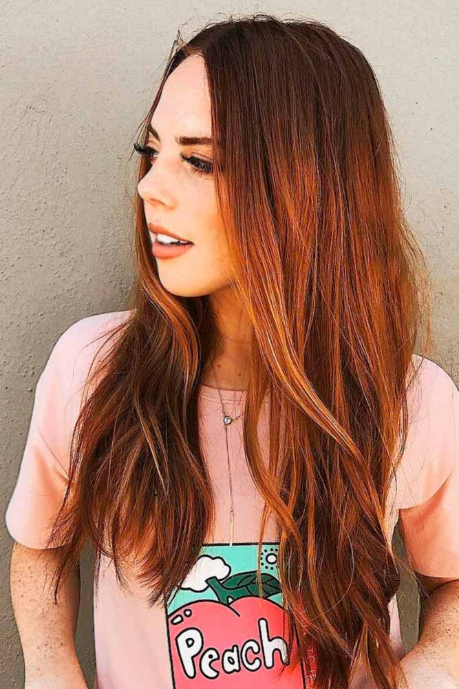 how to go from dark brown to auburn hair