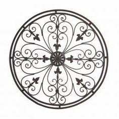 Round Wrought Iron Wall Decor Fair Adrianna Oversized Round Wrought Iron Wall Grille  Wrought Iron Design Ideas