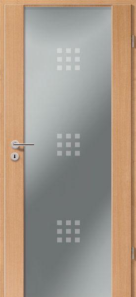 Porte intérieure contemporaine type 2100 motif 3x9 Portes