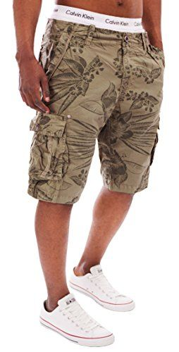 401f781d8aca9d MAKI Styles MAKI Herren Outdoor Cargo Shorts Vintage Kurze Hose Bermuda  Sommerhose Battlefield 4875 Beige M Shorts: Amazon.de: Bekleidung