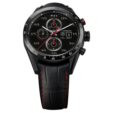 http://www.horloger-paris.com/fr/407-tag-heuer-carrera  Tag Heuer Calibre 1887 Racing Chronographe - 43 mm : CAR2A80.FC6237