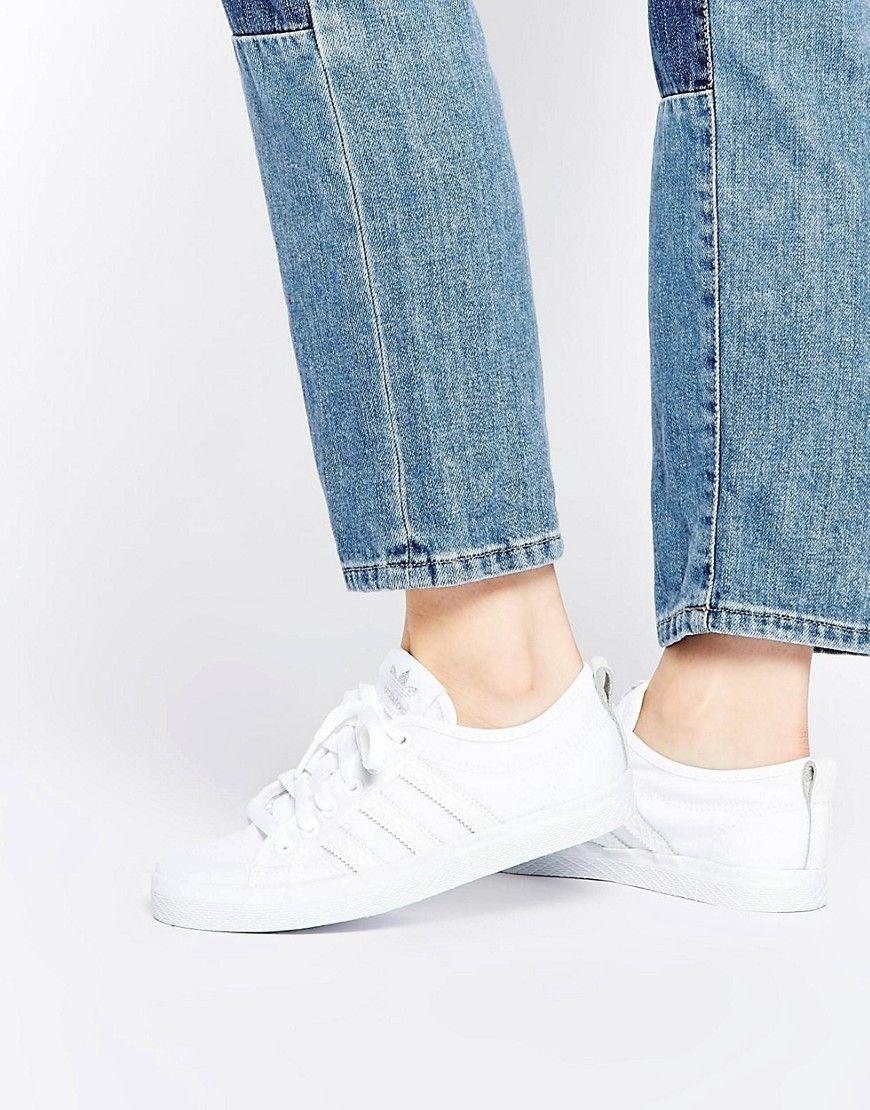 zapatillas adidas blancas de lona