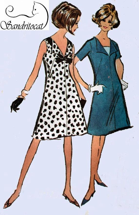 Vintage 60s Sewing Pattern McCalls 7596 MOD MAD MEN by sandritocat, $15.00