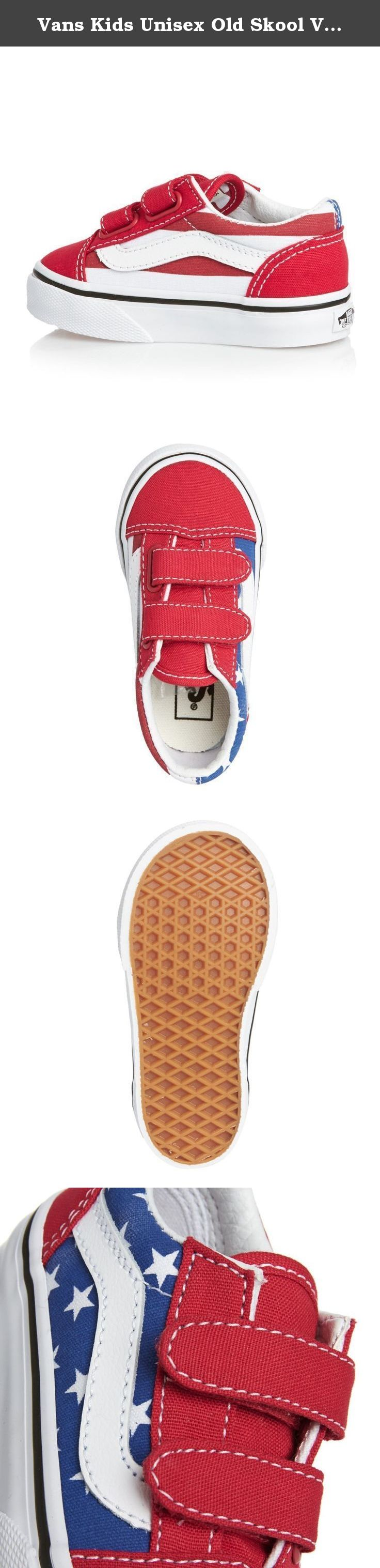 ebfa7d390d Vans Kids Unisex Old Skool V (Toddler) (Stars   Stripes) Red Blue ...