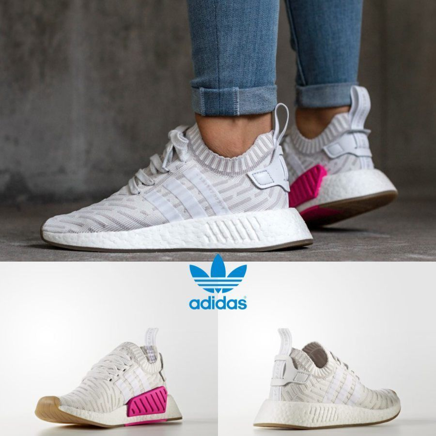 Adidas Original Nmd R2 Pk White Pink Sneakers By9954 Japan Limited
