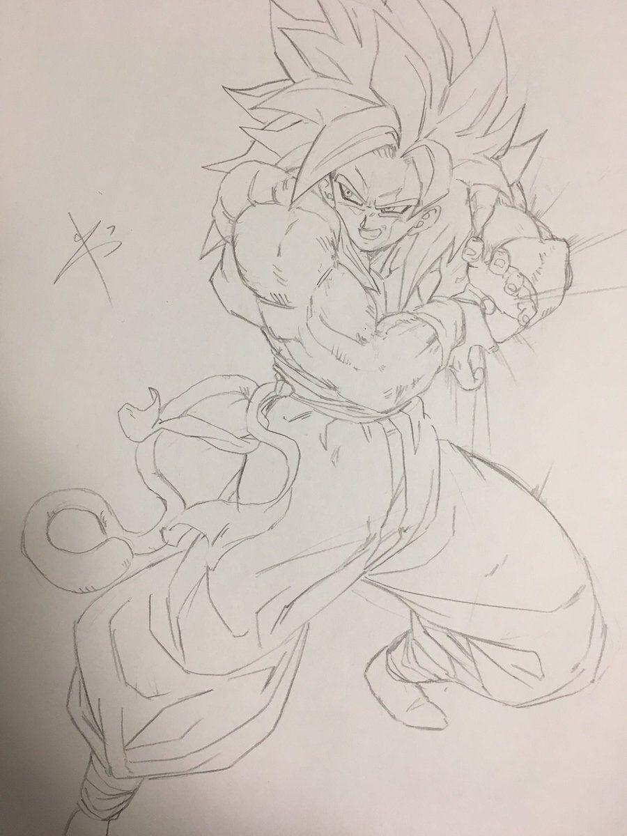 Dessin Fusion Gojita Gogeta Super Saiyajin 4 With Images