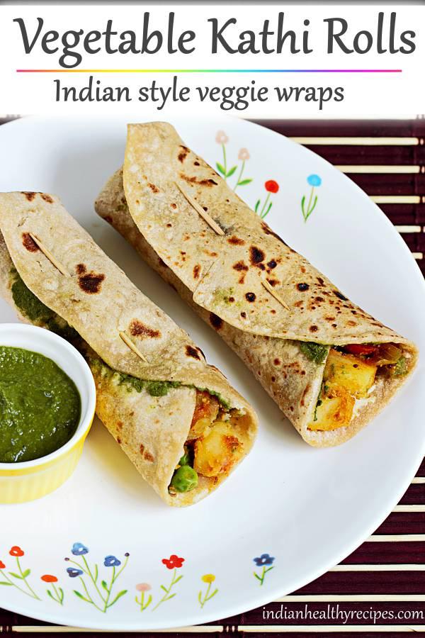 kathi roll recipe  how to make veg kati roll  recipe