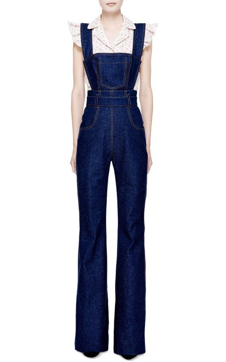 e699639654d3 Denim overalls and a darling blouse.  WaystoWear  denim  TogandPorter