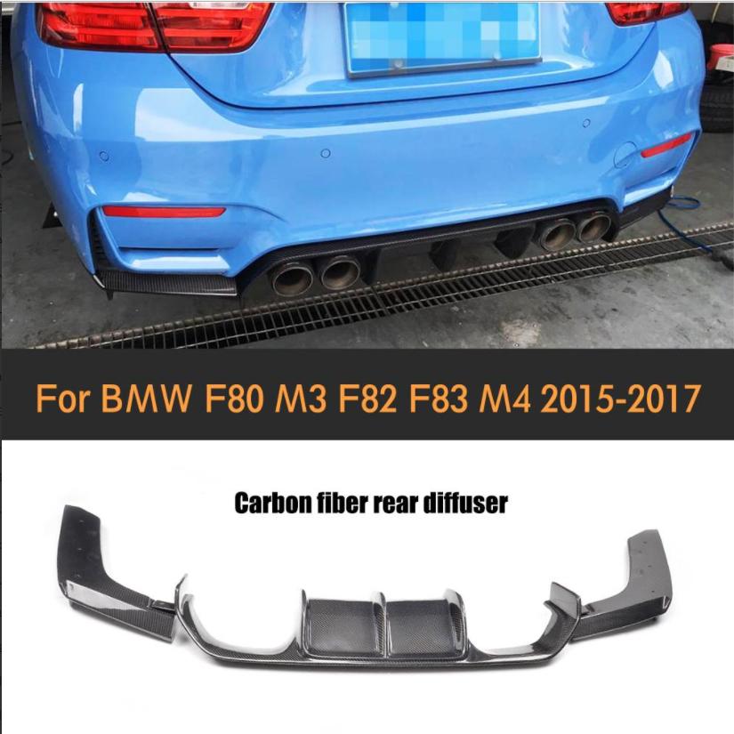 Carbon Fiber Car Rear Bumper Lip Spoiler Diffuser For Bmw F80 M3 F82