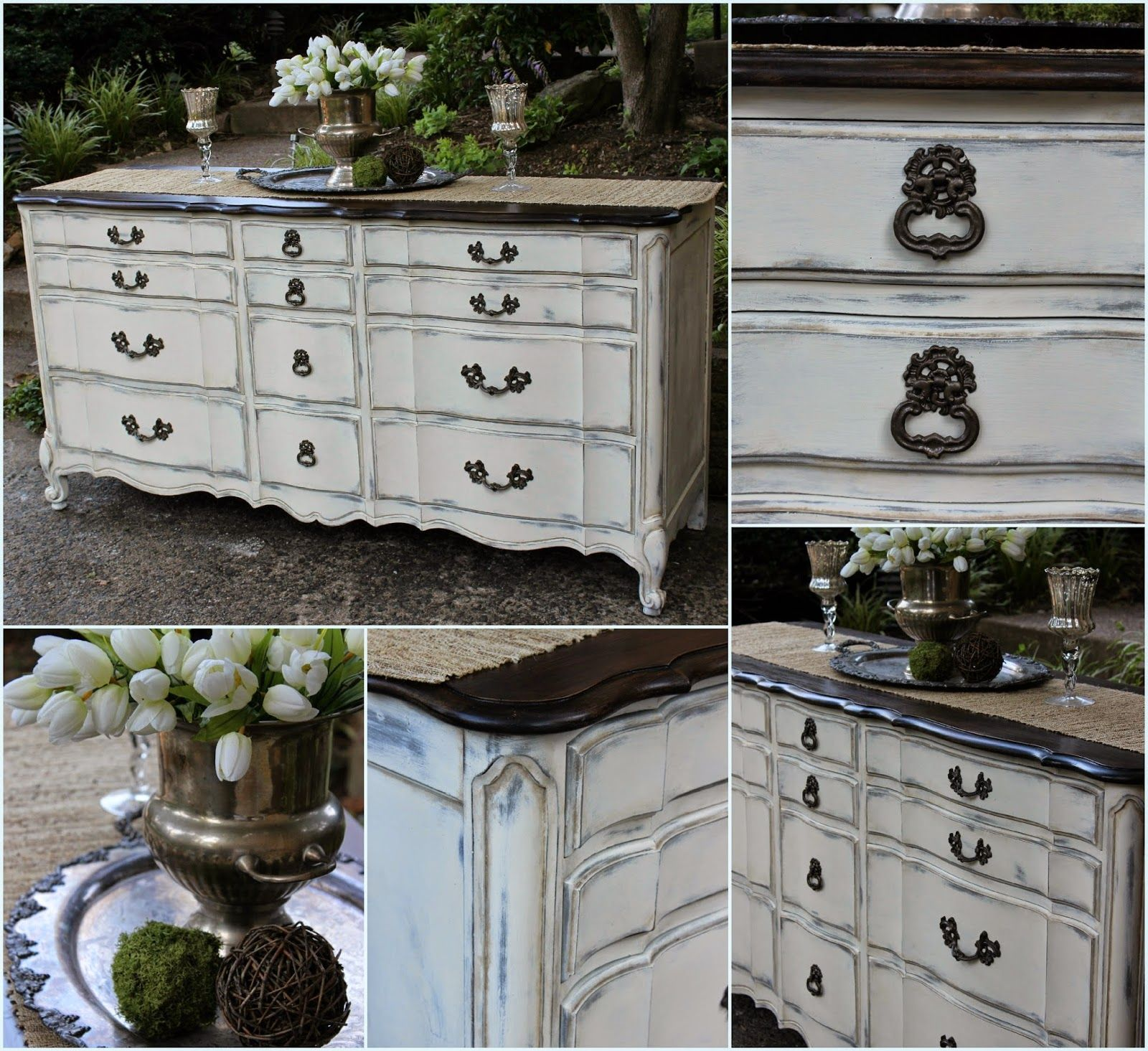 Vintage Country Style: French Provincial Dresser Rehab