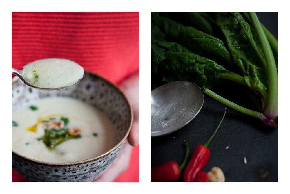 Selleriesuppe mit Haselnuss-Spinat-Pesto | TheVeggieKitchn Blog