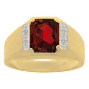 Yellow Gold and Diamond Men's Garnet Octagon Cut Ring  #Christmas 2016 #Jewelry #Personalized #Unique #Simple #Gifts @ Gemologica.com #Xmas #Gift guide finder ideas for #Him #Her #Kids #Jewellery #couponcode #deals #sale Stocking Stuffer #Ideas. #Presents for girlfriends, boyfriends, children, men, women from the #Gemologica Jewelry Store. #Earrings #Rings #Necklaces #Bracelets #Gold #Silver #Fashion #Style