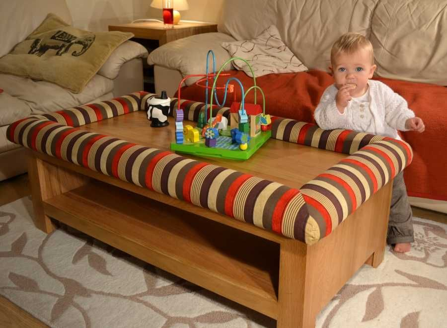 Child Friendly Coffee Table bumpers for your lounge Toddler ideas