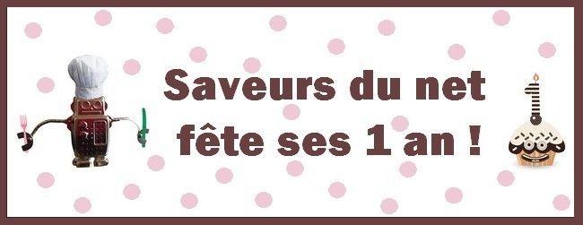 Savveurs du net souffle sa première bougie ! Saveurs du net - Eat, drink and geek : www.saveursdunet.com