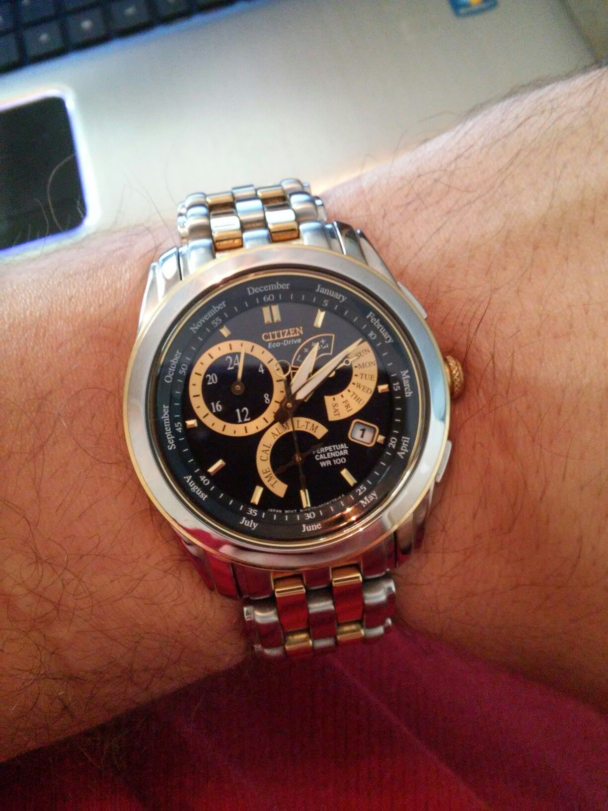 Big Thanks To My Brother For Giving Me An Early Birthday Gift His Citizen Watch With Perpetual Calendar Citizen Watch Perpetual Calendar Birthday Gifts