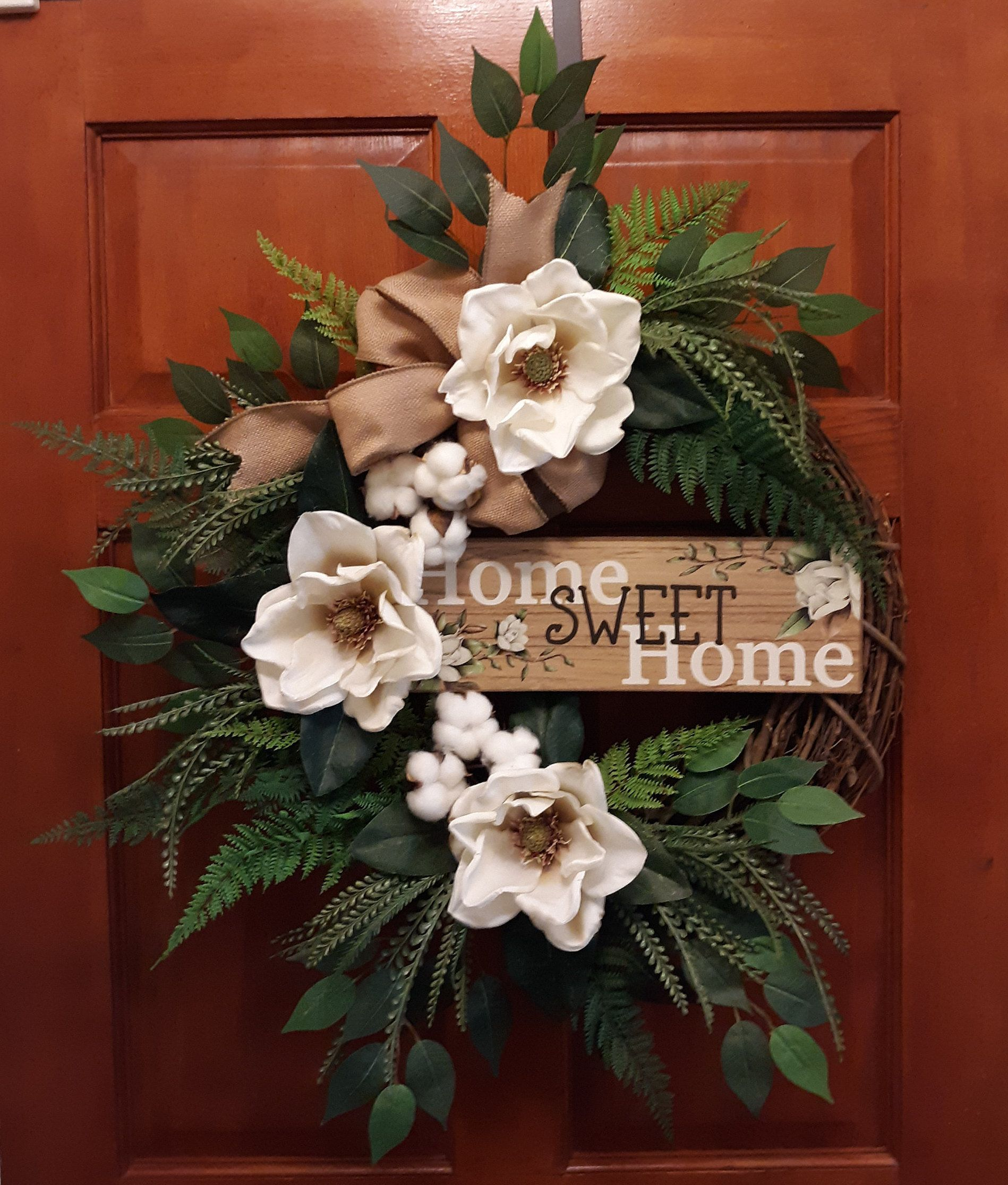 Photo of Everyday Magnolia Wreath, Front Door Magnolia Wreath, Year Round Wreath, Summer Door Wreath, Mother's Day, Gift