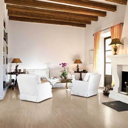 Light brown wood tile floor for living room cascata noce for Light brown living room