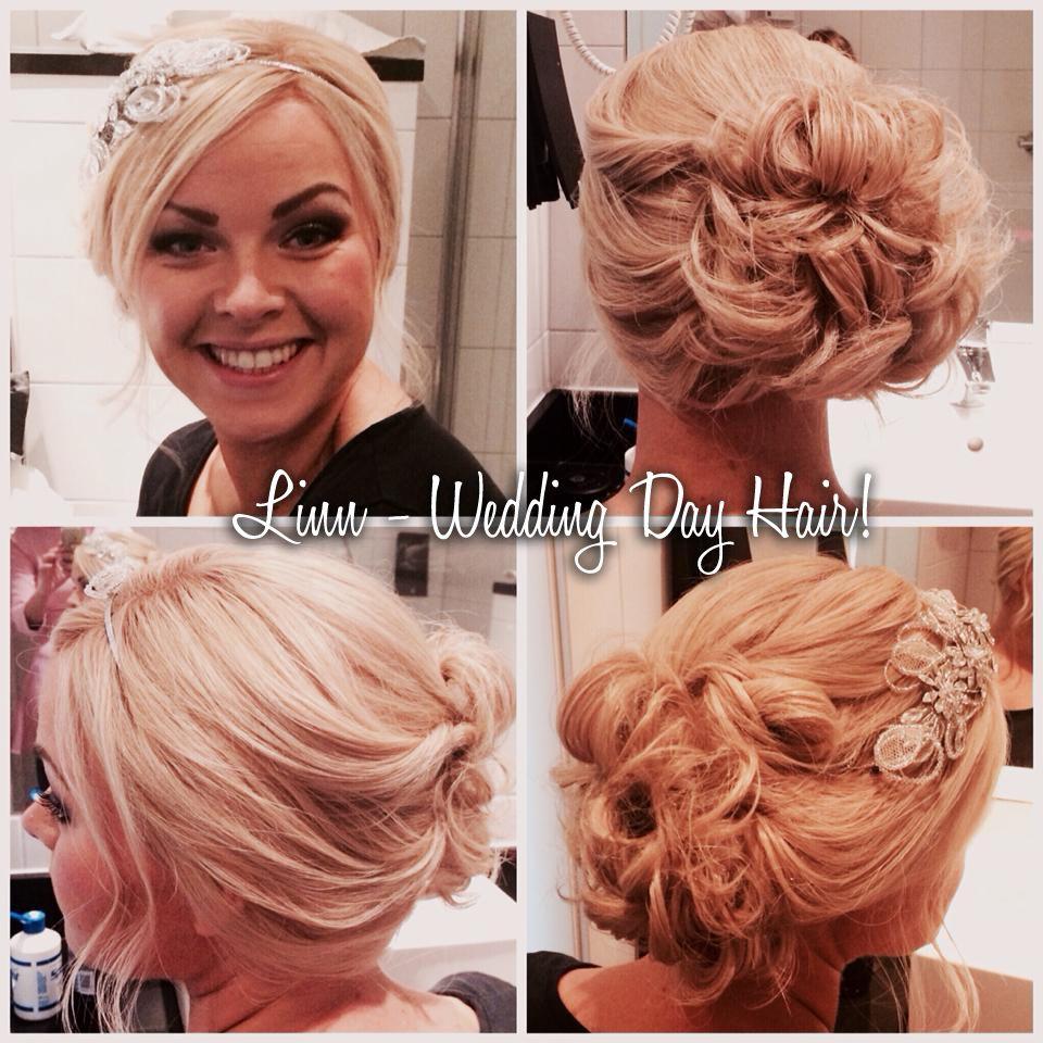Wedding Day Hair for bride using Follea hairpiece (wig ...