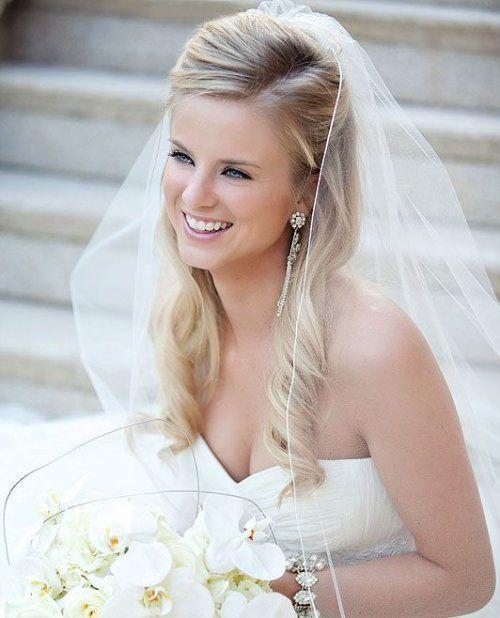 Peinados semirecogidos para novias boda pinterest - Peinados de boda semirecogidos ...