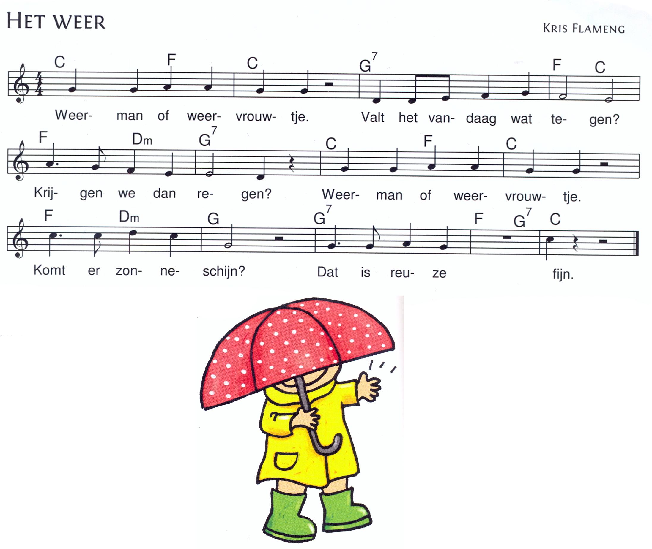 liedje: het weer | versjes-liedjes | Pinterest | School