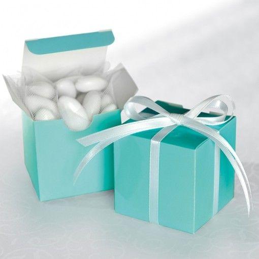 Robins egg blue square favour box