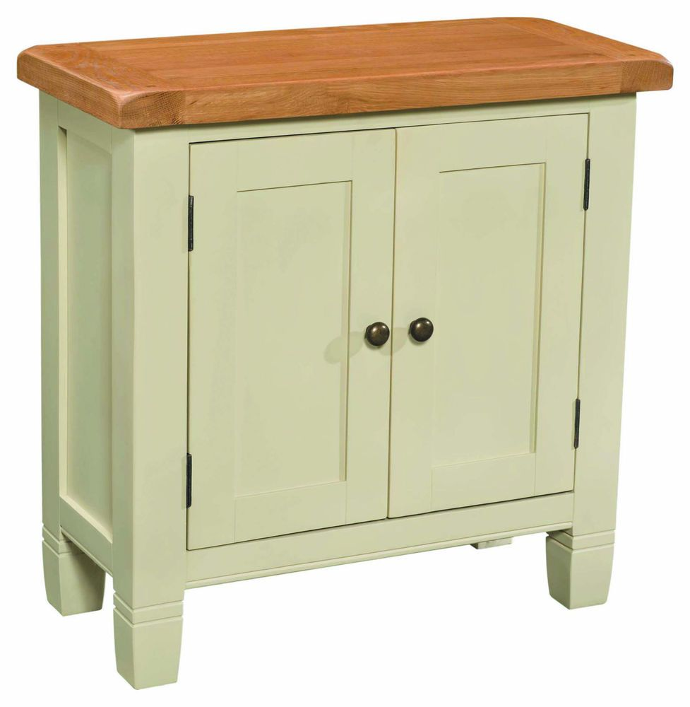 Rustic Chunky Cream Painted Two Door Cabinet-Cupboard - Solid Wood ...