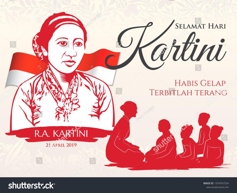Jakarta indonesia april 21 2018 kartini day vector